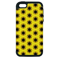 Yellow Fractal In Kaleidoscope Apple Iphone 5 Hardshell Case (pc+silicone)
