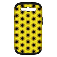 Yellow Fractal In Kaleidoscope Samsung Galaxy S Iii Hardshell Case (pc+silicone)