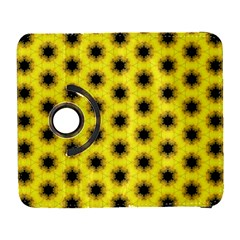 Yellow Fractal In Kaleidoscope Galaxy S3 (flip/folio)