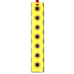 Yellow Fractal In Kaleidoscope Large Book Marks