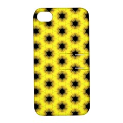 Yellow Fractal In Kaleidoscope Apple Iphone 4/4s Hardshell Case With Stand