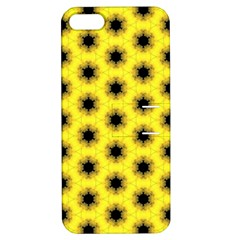 Yellow Fractal In Kaleidoscope Apple iPhone 5 Hardshell Case with Stand