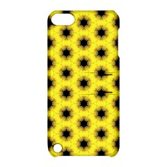 Yellow Fractal In Kaleidoscope Apple iPod Touch 5 Hardshell Case with Stand