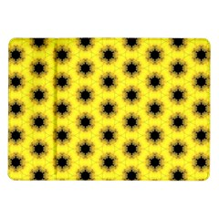 Yellow Fractal In Kaleidoscope Samsung Galaxy Tab 10.1  P7500 Flip Case