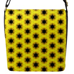 Yellow Fractal In Kaleidoscope Flap Messenger Bag (s)