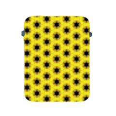 Yellow Fractal In Kaleidoscope Apple Ipad 2/3/4 Protective Soft Cases