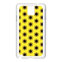 Yellow Fractal In Kaleidoscope Samsung Galaxy Note 3 N9005 Case (white)
