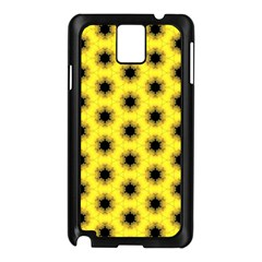Yellow Fractal In Kaleidoscope Samsung Galaxy Note 3 N9005 Case (black)