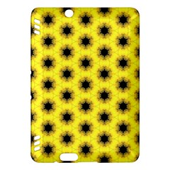 Yellow Fractal In Kaleidoscope Kindle Fire HDX Hardshell Case