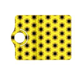 Yellow Fractal In Kaleidoscope Kindle Fire Hd (2013) Flip 360 Case