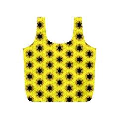 Yellow Fractal In Kaleidoscope Full Print Recycle Bags (s)