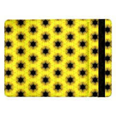 Yellow Fractal In Kaleidoscope Samsung Galaxy Tab Pro 12 2  Flip Case