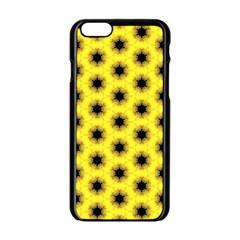 Yellow Fractal In Kaleidoscope Apple iPhone 6/6S Black Enamel Case