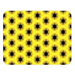 Yellow Fractal In Kaleidoscope Double Sided Flano Blanket (Large)