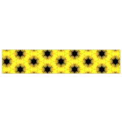 Yellow Fractal In Kaleidoscope Flano Scarf (small)