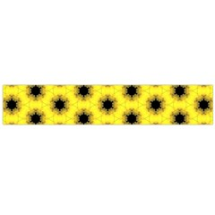 Yellow Fractal In Kaleidoscope Flano Scarf (Large)