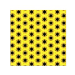 Yellow Fractal In Kaleidoscope Small Satin Scarf (square)