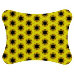 Yellow Fractal In Kaleidoscope Jigsaw Puzzle Photo Stand (bow)
