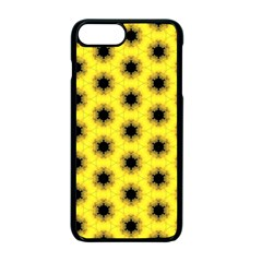 Yellow Fractal In Kaleidoscope Apple Iphone 7 Plus Seamless Case (black)