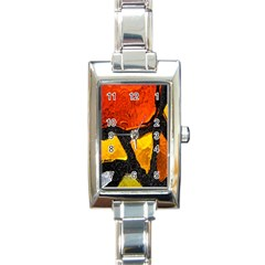 Colorful Glass Mosaic Art And Abstract Wall Background Rectangle Italian Charm Watch
