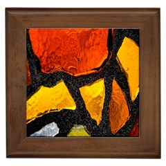 Colorful Glass Mosaic Art And Abstract Wall Background Framed Tiles