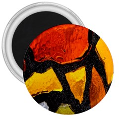 Colorful Glass Mosaic Art And Abstract Wall Background 3  Magnets