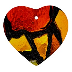 Colorful Glass Mosaic Art And Abstract Wall Background Ornament (heart)