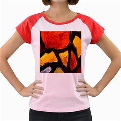 Colorful Glass Mosaic Art And Abstract Wall Background Women s Cap Sleeve T Shirt
