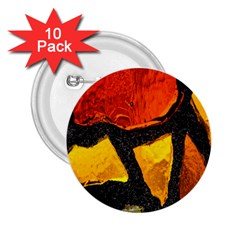 Colorful Glass Mosaic Art And Abstract Wall Background 2.25  Buttons (10 pack)
