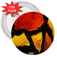 Colorful Glass Mosaic Art And Abstract Wall Background 3  Buttons (100 pack)
