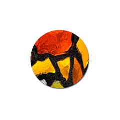 Colorful Glass Mosaic Art And Abstract Wall Background Golf Ball Marker