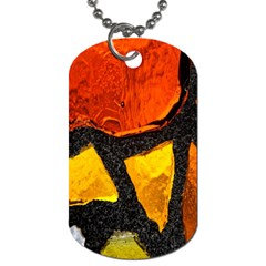 Colorful Glass Mosaic Art And Abstract Wall Background Dog Tag (two Sides)