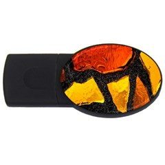 Colorful Glass Mosaic Art And Abstract Wall Background Usb Flash Drive Oval (2 Gb)