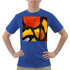 Colorful Glass Mosaic Art And Abstract Wall Background Dark T Shirt