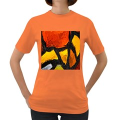 Colorful Glass Mosaic Art And Abstract Wall Background Women s Dark T Shirt