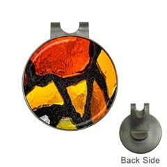 Colorful Glass Mosaic Art And Abstract Wall Background Hat Clips with Golf Markers