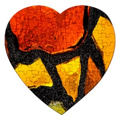 Colorful Glass Mosaic Art And Abstract Wall Background Jigsaw Puzzle (Heart)