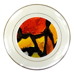 Colorful Glass Mosaic Art And Abstract Wall Background Porcelain Plates
