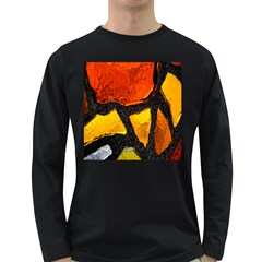 Colorful Glass Mosaic Art And Abstract Wall Background Long Sleeve Dark T Shirts