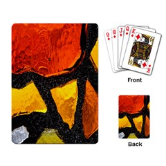 Colorful Glass Mosaic Art And Abstract Wall Background Playing Card