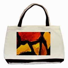 Colorful Glass Mosaic Art And Abstract Wall Background Basic Tote Bag