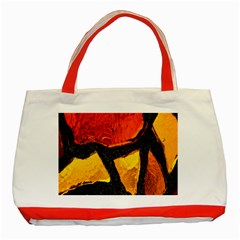 Colorful Glass Mosaic Art And Abstract Wall Background Classic Tote Bag (red)