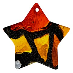 Colorful Glass Mosaic Art And Abstract Wall Background Star Ornament (two Sides)