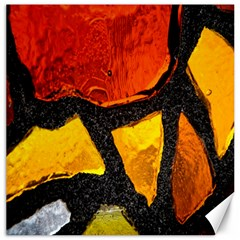 Colorful Glass Mosaic Art And Abstract Wall Background Canvas 16  X 16
