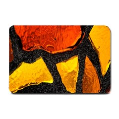 Colorful Glass Mosaic Art And Abstract Wall Background Small Doormat