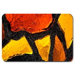 Colorful Glass Mosaic Art And Abstract Wall Background Large Doormat