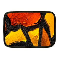 Colorful Glass Mosaic Art And Abstract Wall Background Netbook Case (Medium)