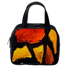 Colorful Glass Mosaic Art And Abstract Wall Background Classic Handbags (one Side)