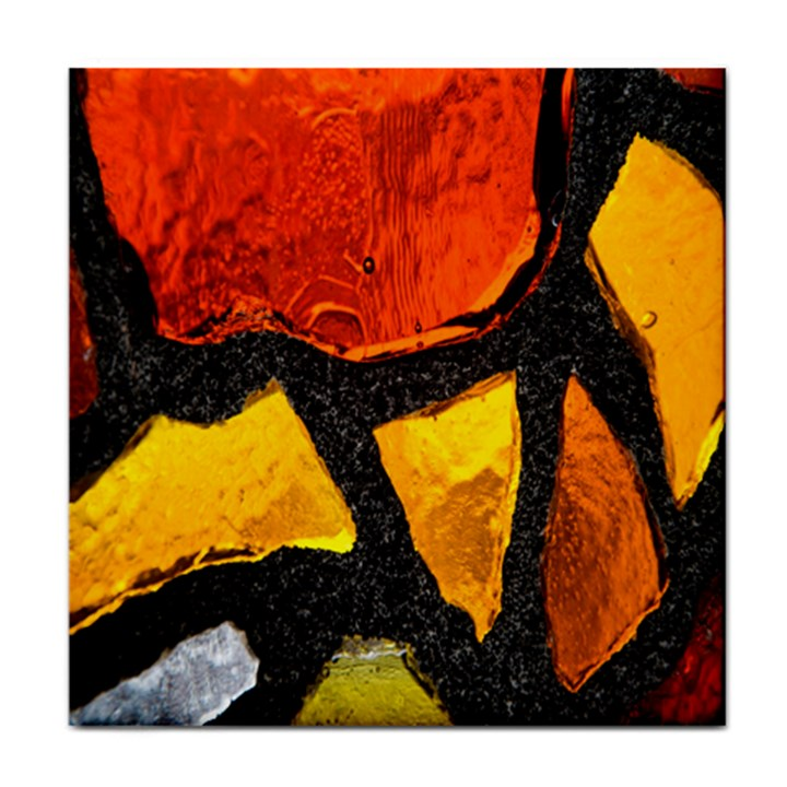 Colorful Glass Mosaic Art And Abstract Wall Background Face Towel