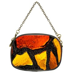 Colorful Glass Mosaic Art And Abstract Wall Background Chain Purses (two Sides)
